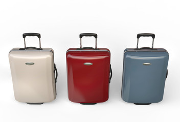 Polycarbonate travel baggage suitcases