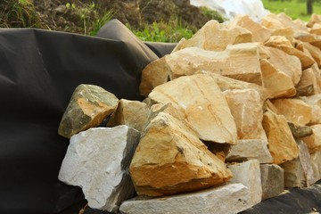 hausbau sandsteinmauer I