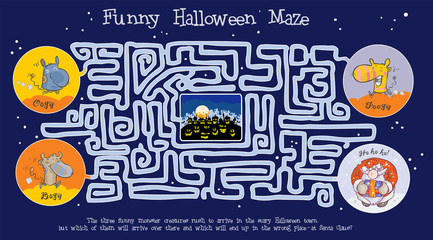 Funny Halloween maze