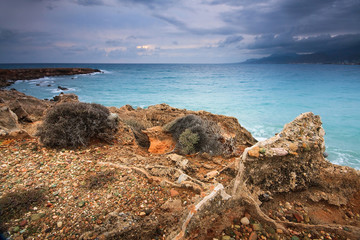 Greek coastline in Southern Crete.
