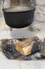 The pot on the fire