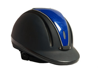 Horse riding black helmet  isolated