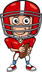 boy football player cartoon illustration