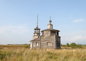 Old abandoned wooden church