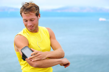 Running training music on smartphone app - runner