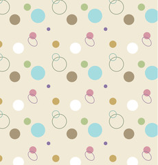 Repeating seamless abstract background pattern of circles
