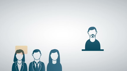 People icons on gray background, Animation Design, HD 1080