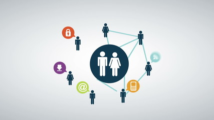 People icons network, Animation Design, HD 1080