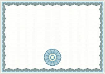 Guilloche Certificate Template