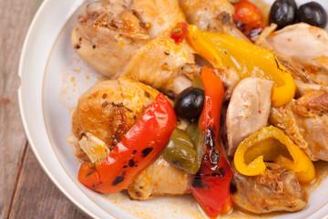 close up chicken casserole