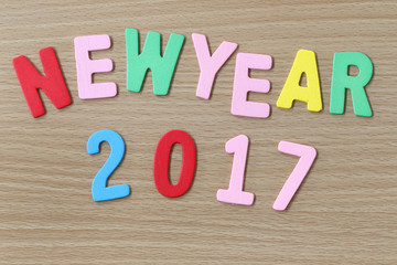 New Year colorful text.