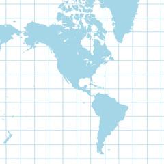 南北アメリカ地図