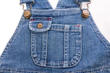 Jean infant's apron