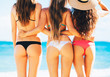 canvas print picture - Sexy Girls in Bikinis