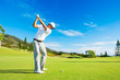canvas print picture - Man Playing Golf