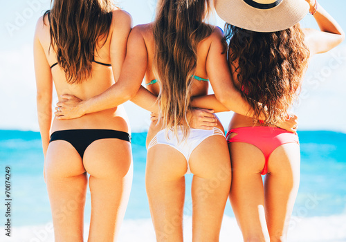canvas print picture Sexy Girls in Bikinis