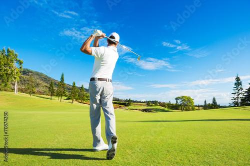 Man Playing Golf - 70874280