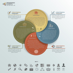 Round Cards Infographic Elements