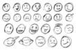 hand draw sketch, emoticon