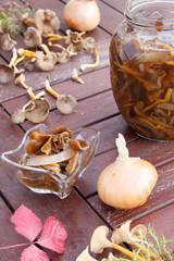 Mashrooms (Cantharellus tubaeformis ) marmalade