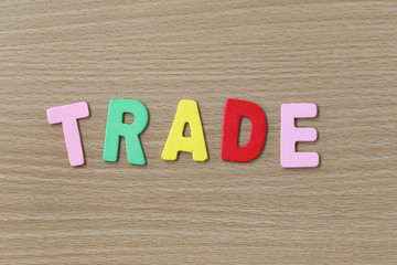 The Trade of colorful text.