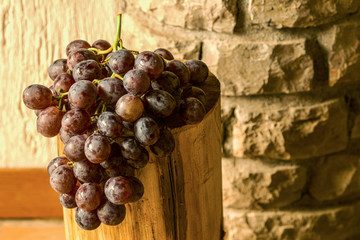 Black grapes with stones