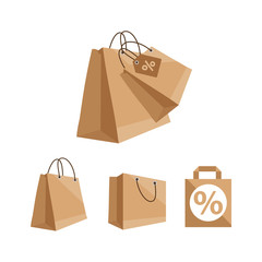 vector illustration of paper bags
