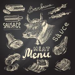 Meat chalkboard set