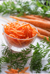 Grated carrots