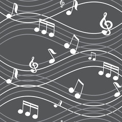 vector abstract seamless background music notes