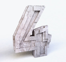 Stone Number Four in 3D
