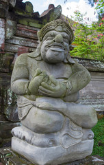 Stone sculpture in the temple yard, Bali