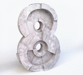 Stone Number Eight in 3D