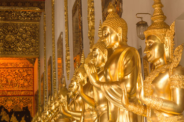 The buddha statue in Ban Den temple,Thailand
