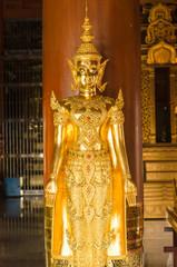 The buddha statue in Ban Den temple,Thailand