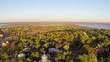 Flying over a small village in Romania