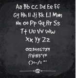 Vector illustration of chalked alphabet