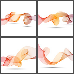 Set of abstract wave background