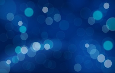 Abstract bokeh blue background vector