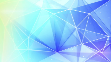 abstract triangle geometrical blue background loop