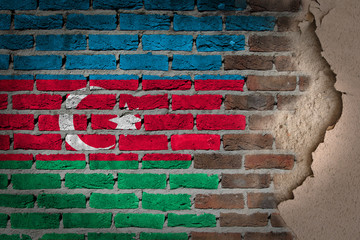 Dark brick wall with plaster - Azerbaijan