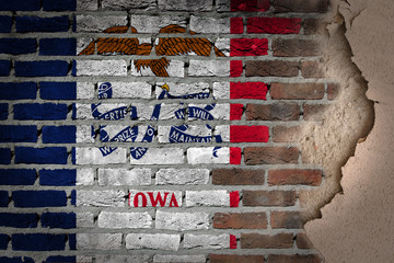 Dark brick wall with plaster - Iowa