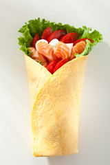 Salmon Burrito