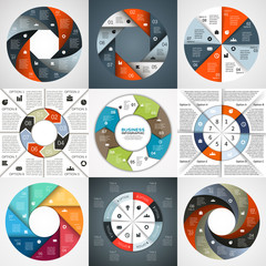 Vector circle arrows infographic diagram 8 options