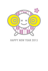 New year's card 2015 sheep Yagasuri
