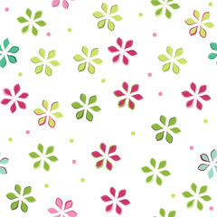 vector seamless pattern with abstract flowers