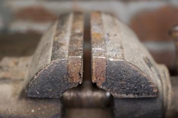 old bench vise