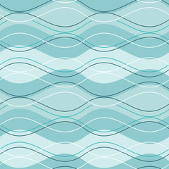 vector abstract seamless pattern blue wave