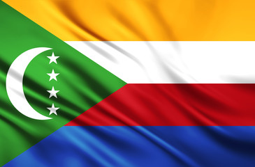 The National Flag of the Union of Comoros
