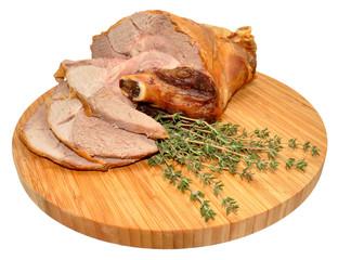 Carved Roast Leg Of Lamb